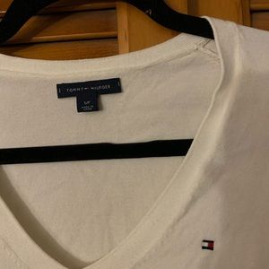 Tommy Hilfiger White Size Small Long Sleeve Shirt